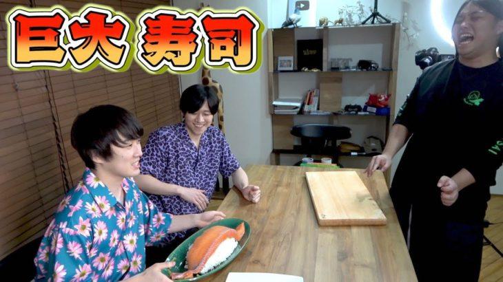 カノックスターに巨大寿司を振る舞うトミカンの図