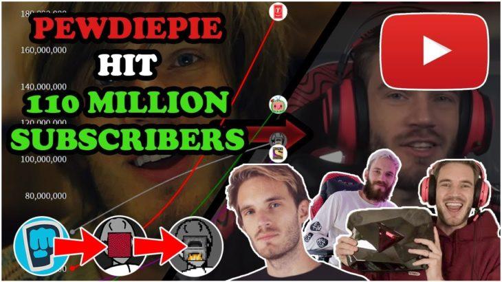 PEWDIEPIE HIT 110 MILLION SUBSCRIBERS! | PewDiePie's 11 Year YouTube Journey!