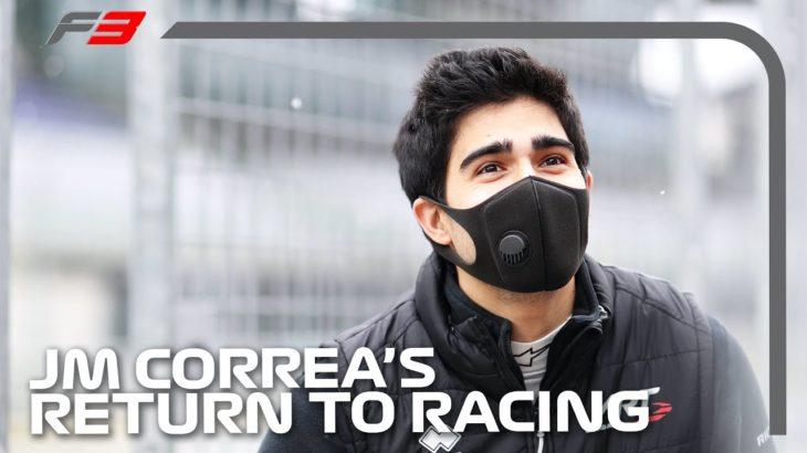 Juan Manuel Correa Prepares For Incredible Return To Racing