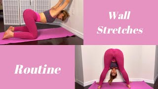 Leg and Back Wall Stretches