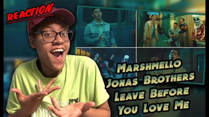 Marshmello x Jonas Brothers Leave Before You Love Me (Music Video) Reaction