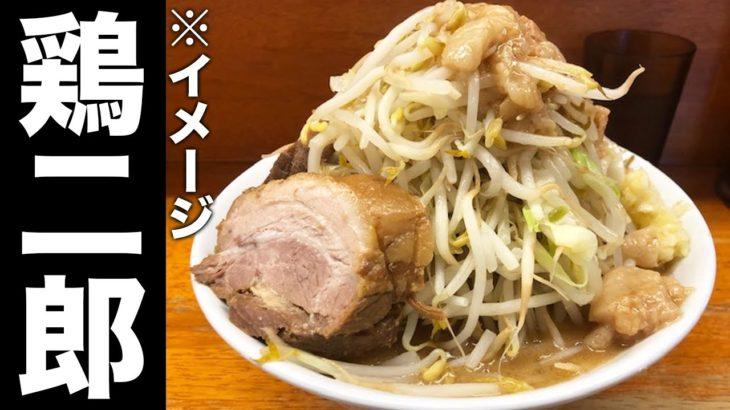 【巨大】鶏白湯で作る低脂肪ラーメン!【ラーメン二郎】