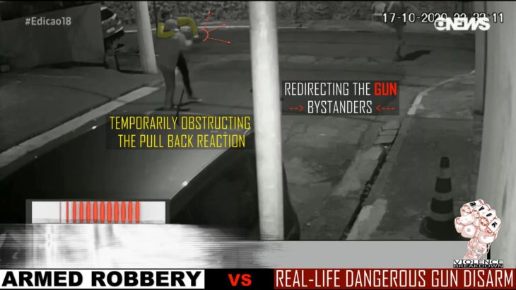 Armed Robbery | gun disarm goes wrong