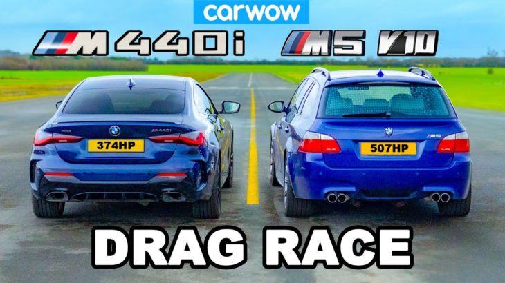 BMW M5 V10 Touring v BMW M440i: DRAG RACE