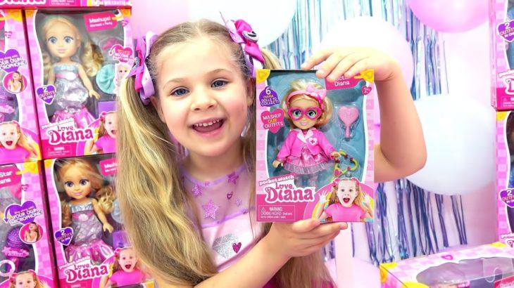 Diana cùng với những món đồ chơi Diana đáng yêu tại Walmart!