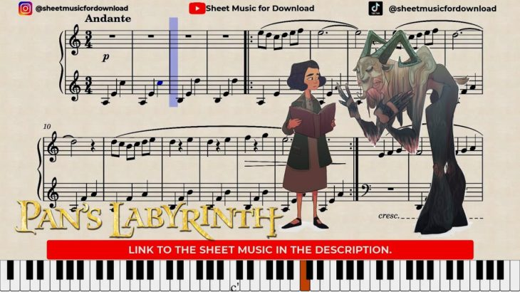 Pan´s Labyrinth Lullaby (Piano Version) + Sheet Music