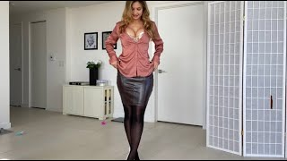 Pantyhose and Office Outfits Try On|Valentina Victoria