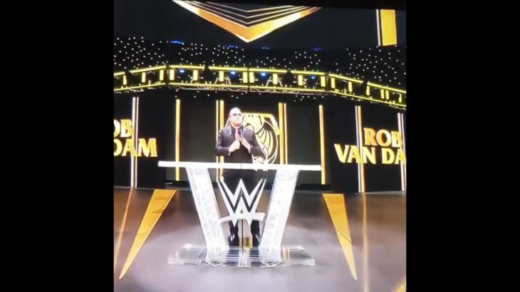 Rob Van Dam RVD with Vince and Triple H backstage at the 2021 WWE Hall of Fame