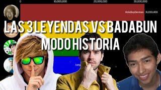 elrubiusOMG vs Fernanfloo vs HolaSoyGerman vs JuegaGerman vs Badabun 📊 | MODO HISTORIA (2011-2021)