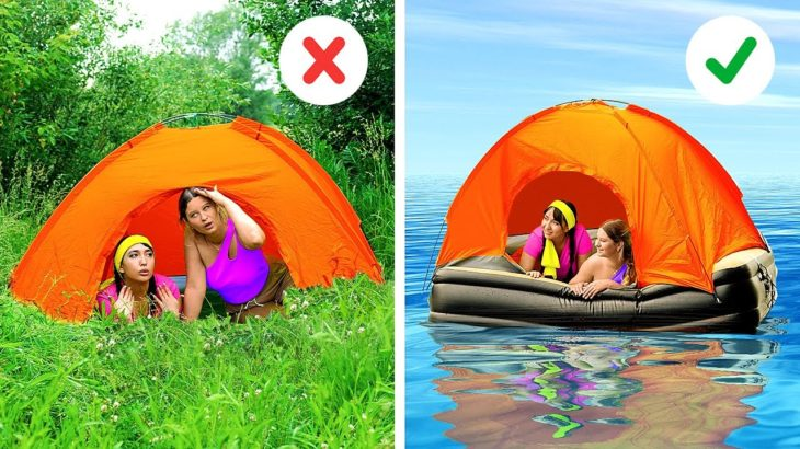 AWESOME BEACH AND CAMPING HACKS || HOW TO MAKE YOUR TRIP PERFECT