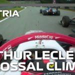 Arthur Leclerc's Colossal Climb Through The Field | 2021 Austrian Grand Prix