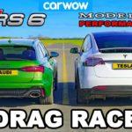 Audi RS6 v Tesla Model X: DRAG RACE