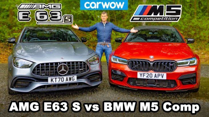 BMW M5 Comp vs AMG E63 S review & 0-60mph, 1/4-mile, brake and drift comparison!