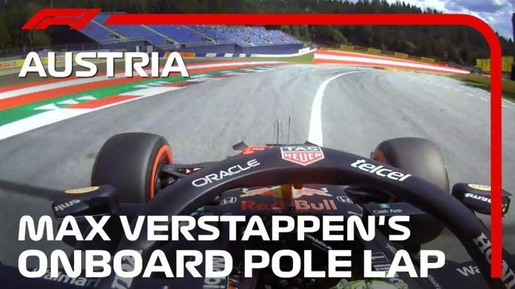 Max Verstappen's Onboard Pole Lap | 2021 Austrian Grand Prix | Pirelli