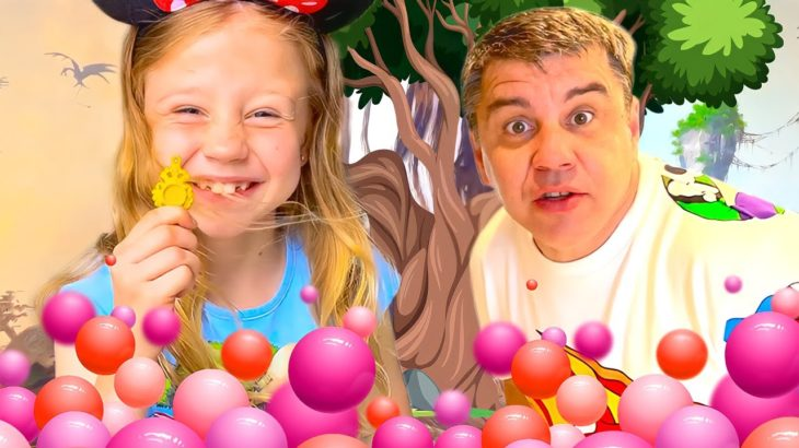 Nastya and a collection of fun challenges with dad