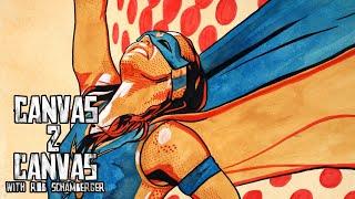 Nikki A.S.H. becomes a real-life Comic Book Superhero: WWE Canvas 2 Canvas
