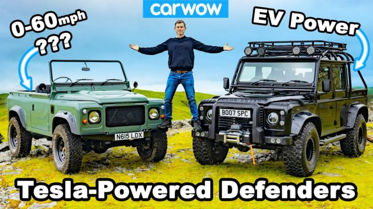 Tesla-powered Defenders review – blasted off-road and timed 0-60mph!