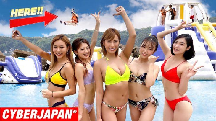 【海上巨大アスレチック】ウォーターアイランドで吹っ飛んだ!w 水没、絶叫!【Water Atheletic in Japan 】